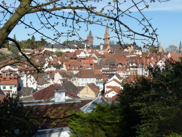 P1010475 Altstadt Weinheim von Blütenwegvariante 1600