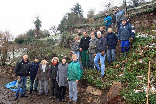 Teilnehmer beim Landschaftspflegetag